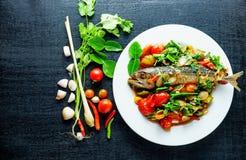 Sal dos peixes da cavala, alimento de Tailândia Fotografia de Stock