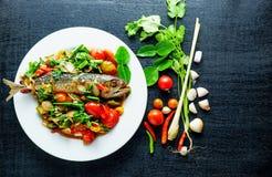 Sal dos peixes da cavala, alimento de Tailândia Foto de Stock Royalty Free