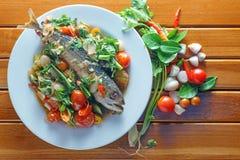 Sal dos peixes da cavala, alimento de Tailândia Fotos de Stock Royalty Free