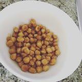 Sal e Chick Peas secado vinagre Imagem de Stock