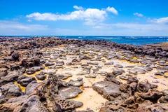 Sal em uma superfície volcan Imagens de Stock