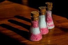 Sal em umas garrafas Imagens de Stock Royalty Free