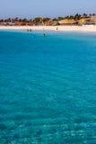 Sal Island beach at the Atlantic Ocean Royalty Free Stock Image