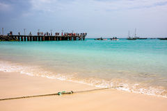 Sal Island beach, Cape Verde Royalty Free Stock Photography