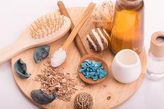Sal médico do cuidado dos termas da cosmetologia para o banho, aromaterapia Imagens de Stock Royalty Free