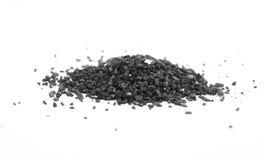 Sal negra Foto de archivo libre de regalías