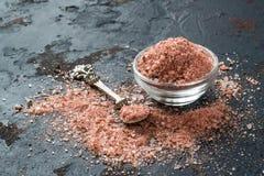 Sal rosada especial del Adygei con las especias Rusia Foto de archivo