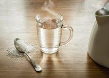 Sal y agua Imagen de archivo libre de regalías