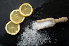 Sal y limón imagen de archivo libre de regalías