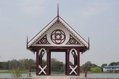 Sala外缘Nam Wat Niwet Thammaprewat 库存图片