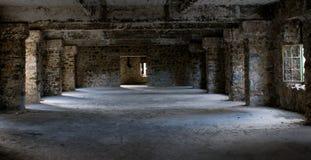 Sala abandonada do interior do hotel Imagens de Stock Royalty Free