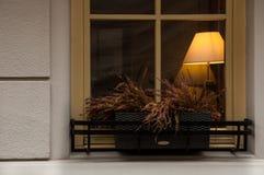 Sala acolhedor através da janela Imagens de Stock Royalty Free