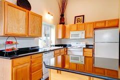 Sala acolhedor brilhante da cozinha Imagens de Stock