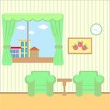 Sala agradável com uma janela Fotos de Stock