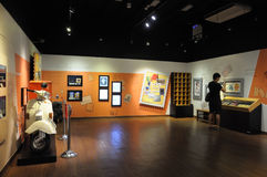 A sala alaranjada no museu filatélico de Singapura Fotografia de Stock Royalty Free