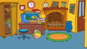 Sala animado dos desenhos animados Fotografia de Stock