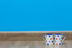 Sala azul fotos de stock