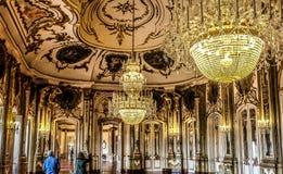 Sala balowa Queluz obywatela pałac zdjęcie royalty free