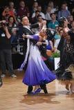 Sala balowa tana para, tanczy przy rywalizacją Fotografia Stock