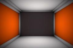 Sala bonita com paredes da propaganda Fotografia de Stock