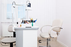 Sala bonita do manicure Imagem de Stock