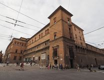 Sala Borsa-Bibliothek im Bologna Stockfotos