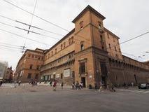Sala Borsa-Bibliothek im Bologna Stockbilder