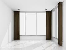 Sala branca vazia na manhã Imagens de Stock