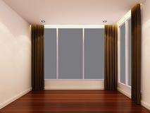 Sala branca vazia na noite Imagem de Stock