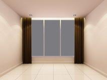 Sala branca vazia na noite Foto de Stock