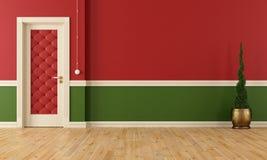Sala clássica vermelha e verde Fotografia de Stock