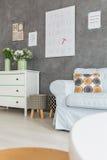 Sala clara com imagens na parede Imagens de Stock Royalty Free
