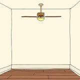 Sala com assoalhos de folhosa Fotografia de Stock Royalty Free