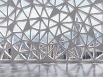 Sala com janela de vidro colorido Foto de Stock Royalty Free