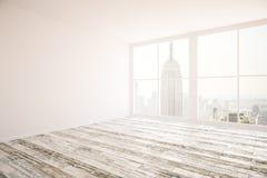 Sala com lado da parede vazia Imagens de Stock