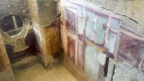 Sala com pintura decorativa dos di Napoli de Principe do del da casa fotografia de stock royalty free