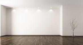 Sala com rendição de vidro do fundo 3d do vaso Fotografia de Stock Royalty Free