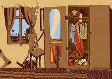 Sala com um vestuário velho Fotos de Stock