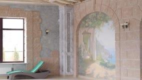 Sala com uma associação e uma decoração bonita video estoque