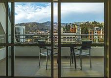 Sala com uma vista em La Paz, Bolívia imagens de stock royalty free