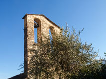 Sala Comacina, lake of Como. Bells tower Stock Images