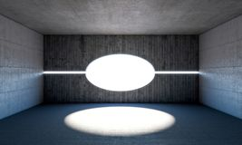 Sala concreta abstrata Imagem de Stock Royalty Free