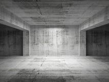 Sala concreta abstrata escura vazia Imagem de Stock Royalty Free