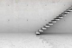 Sala concreta com escadas