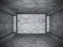 Sala concreta escura vazia Fundo da arquitetura do projeto do Grunge Fotografia de Stock