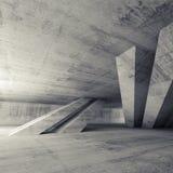 Sala concreta vazia abstrata, interior 3d Ilustração Royalty Free
