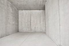 Sala concreta vazia clara e grande - imagem imagem de stock