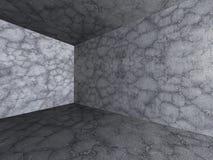 Sala concreta vazia escura Fundo da arquitetura ilustração stock