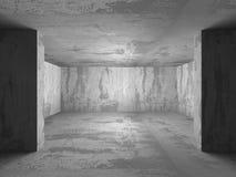 Sala concreta vazia escura Fundo da arquitetura ilustração royalty free