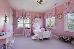 Sala cor-de-rosa das meninas Imagem de Stock Royalty Free